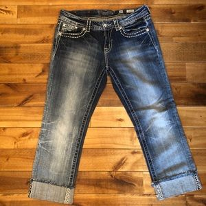 Miss Me Easy Cropped Jeans size 28